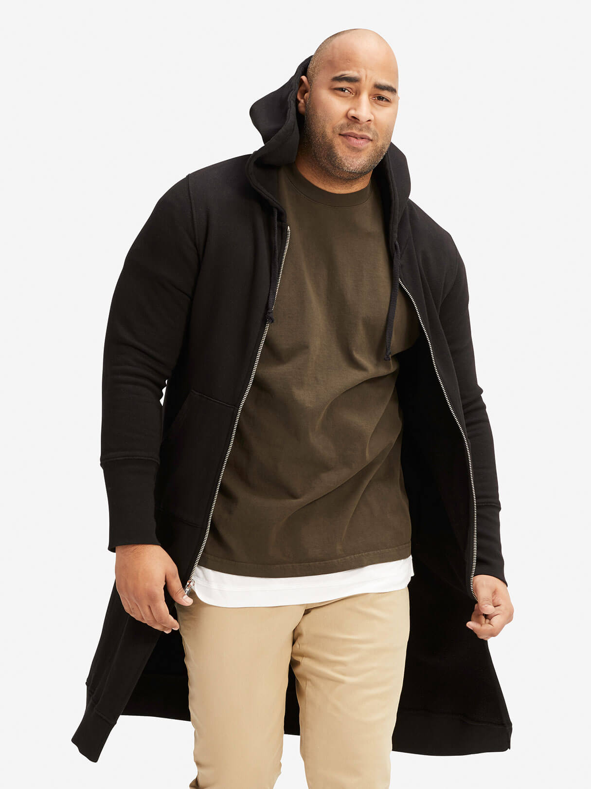 OAK NYC Long Slouch Hoodie Black Hero