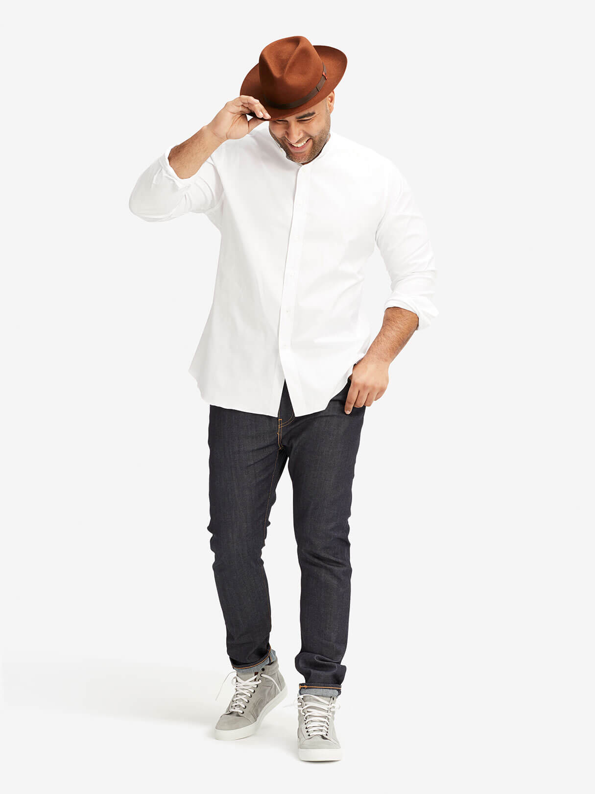 Classic Mandarin Collar Shirt